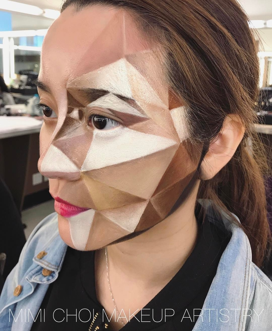 08-Cubism-Mimi-Choi-aka-mimles-Body-Painting-Many-Examples-of-face-Makeup-Application-www-designstack-co