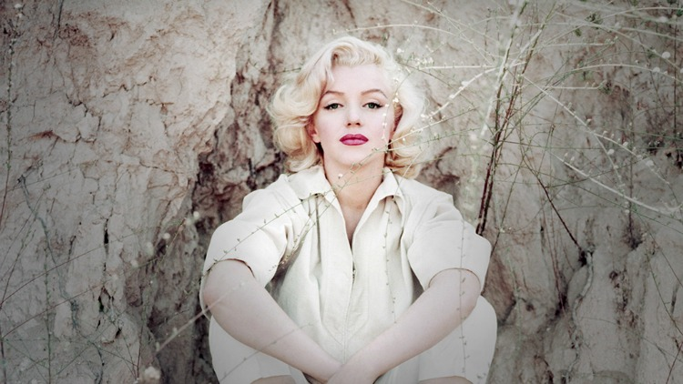 Marilyn Monroe white blouse color photo