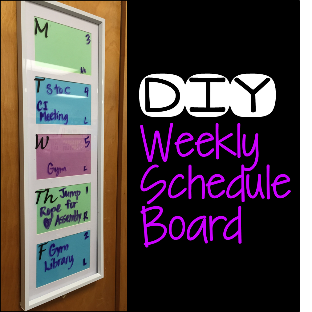 how to make a diy schedule board for your classroom hanging around