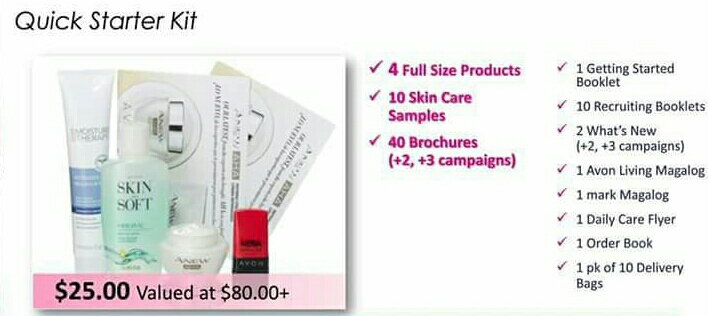 Your Quick Starter Kit is $25.00 (value over $80)