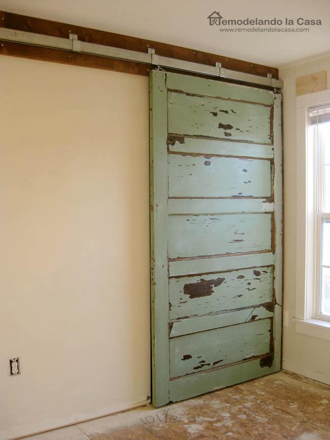 How to Install a Sliding Barn Door - Part 2 - The Door ...