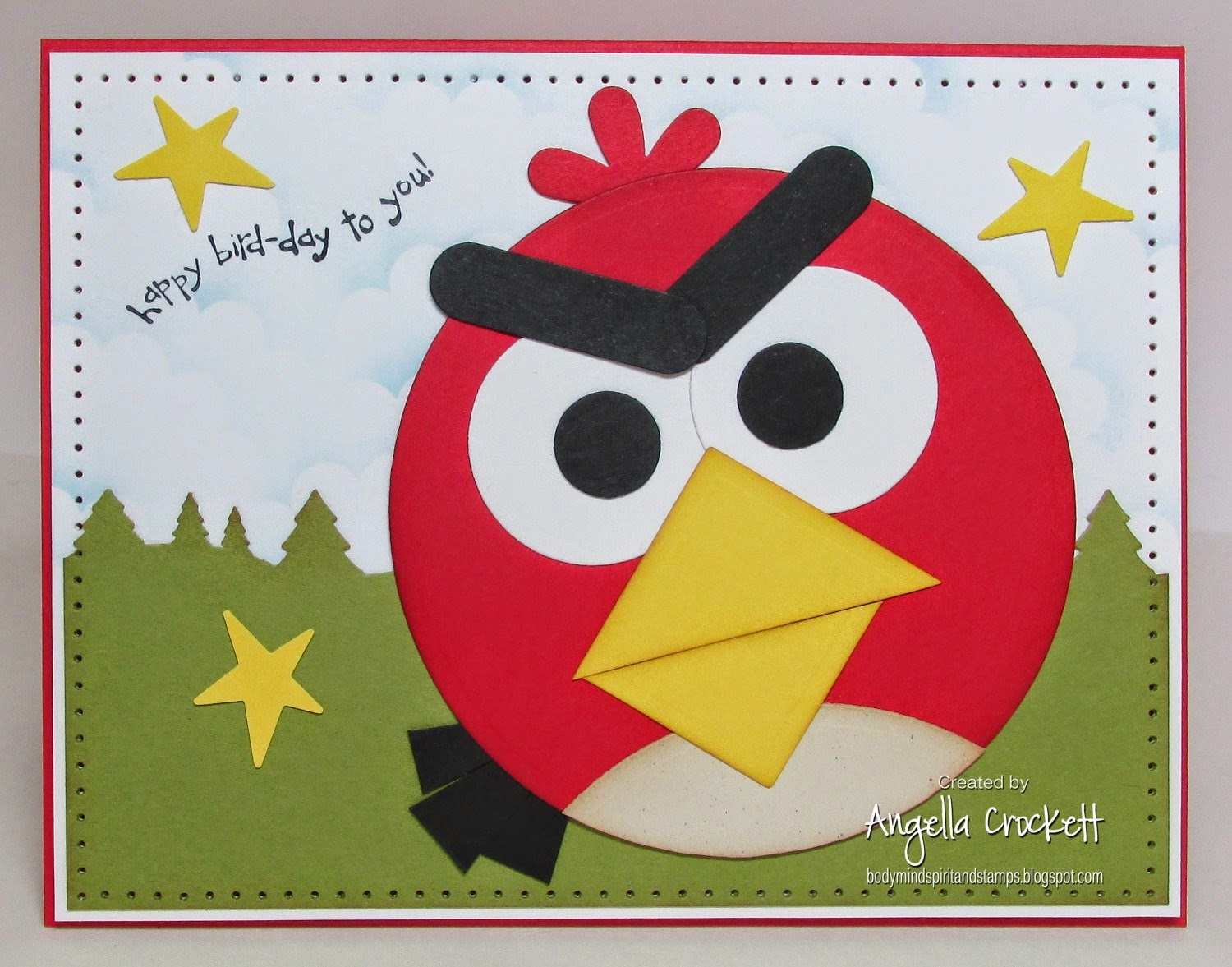 Angry Birds Punch Art by Angie Crockett