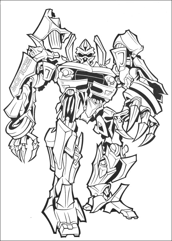 new transformers coloring pages - photo #13