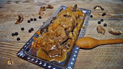 polędwica z sarny w sosie grzybowym
