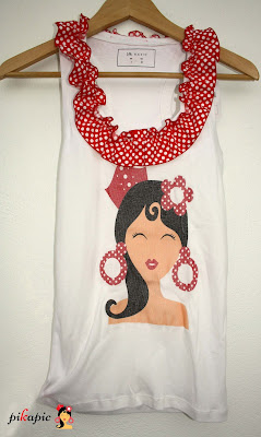 Camiseta despedida de soltera flamenca Pikapic