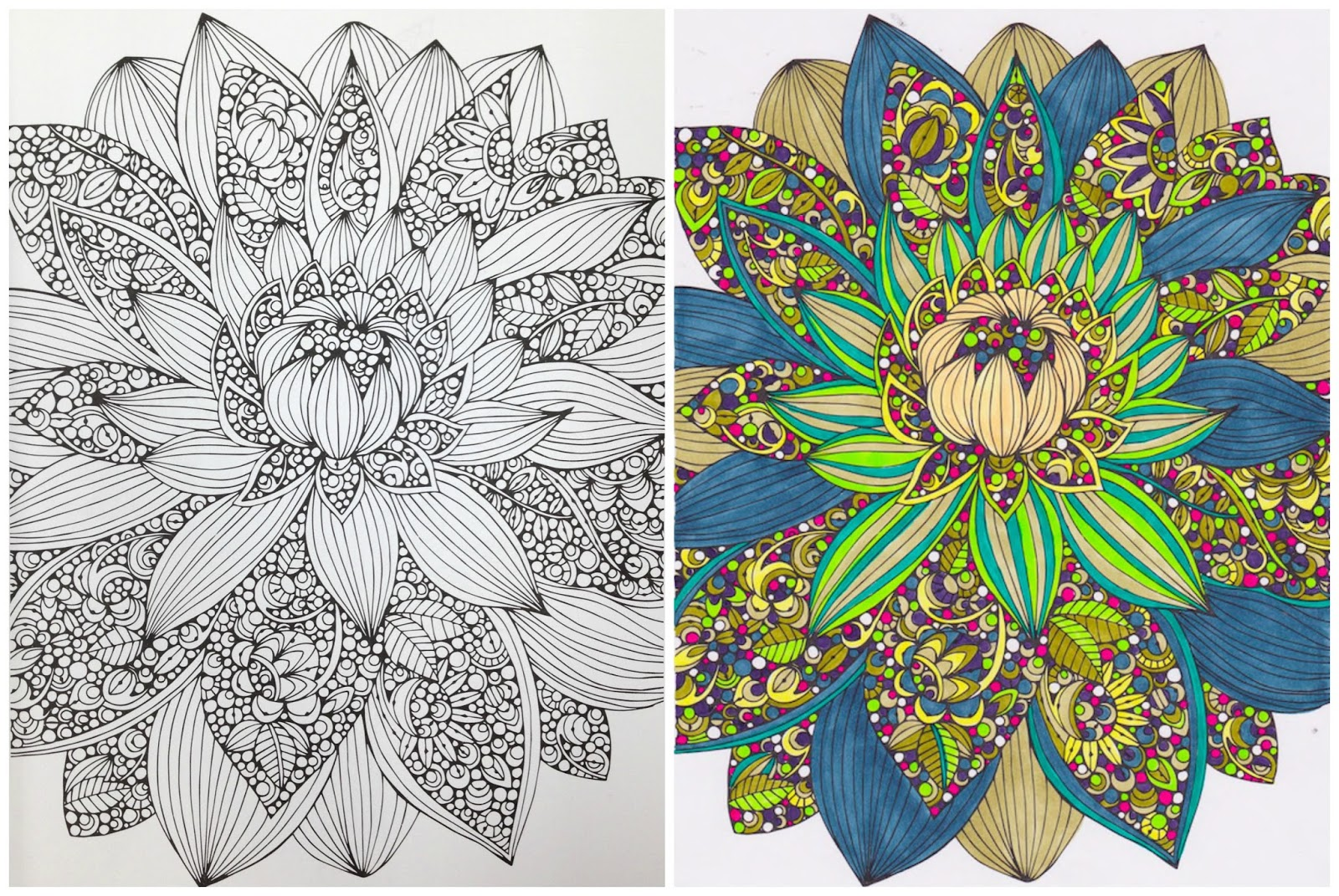Use your finished coloring page to make greeting cards