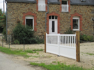 New gates and front view of our holiday home