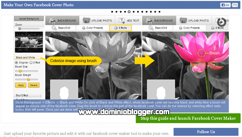 crear portadas para facebook con Timeline Cover Photo Maker