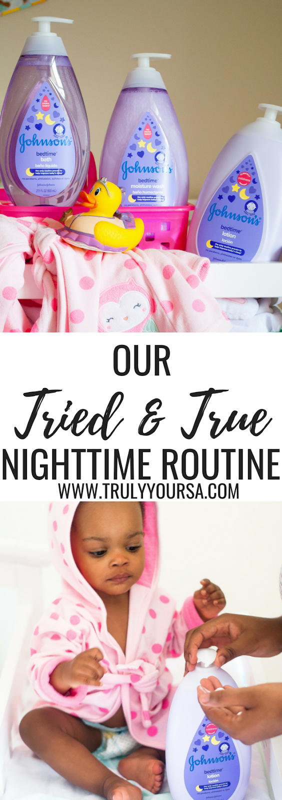 AD As a first-time mom it took me months to even think of developing a nighttime routine for McKenna. I thought I could just lay her in her bassinet at bedtime and she would magically fall asleep. If I could only redo one thing from her first year I would definitely incorporate a bedtime routine from the start. Since we've started using this tried and true nighttime routine McKenna falls asleep faster and stays asleep longer! Of course, a tried and true nighttime routine isn't complete without using tried and true gentle products from JOHNSON'S®! AD #GetJohnsonsBaby #ChooseGentle #babybedtimeroutine #nighttimeroutine #babynighttimeroutine @Target @JohnsonsBaby