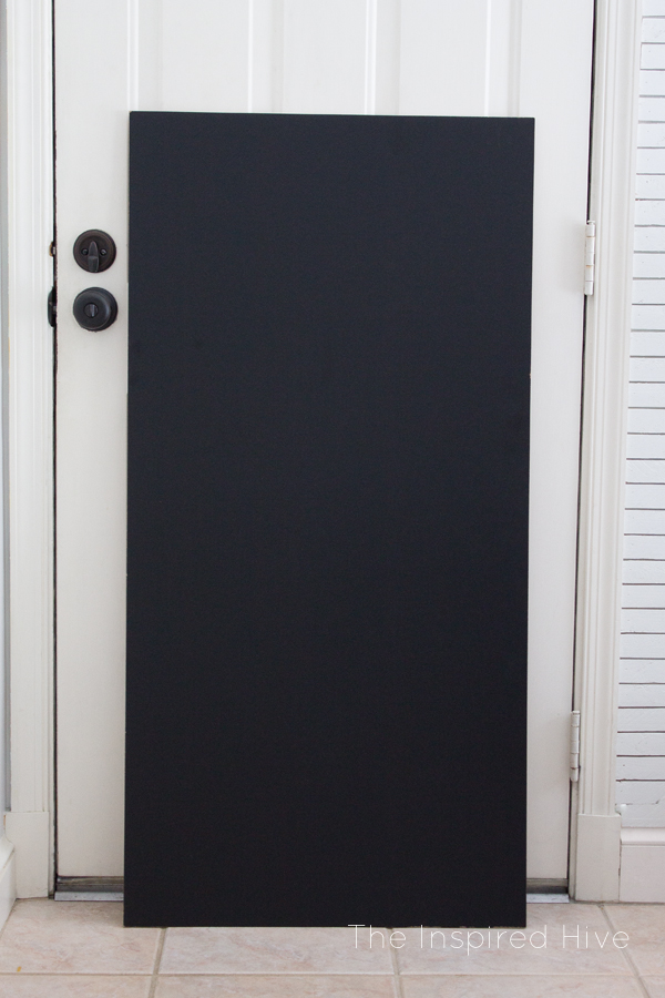 Did you know you can buy 4 foot chalkboard panels at Home Depot?