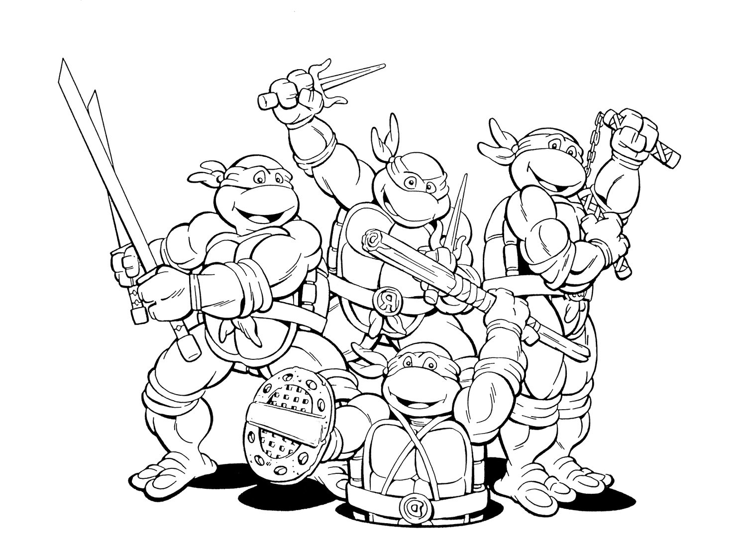 Best Ninja Turtles Coloring Pages For Boys Image