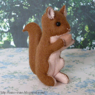 Squirrel has a nut
