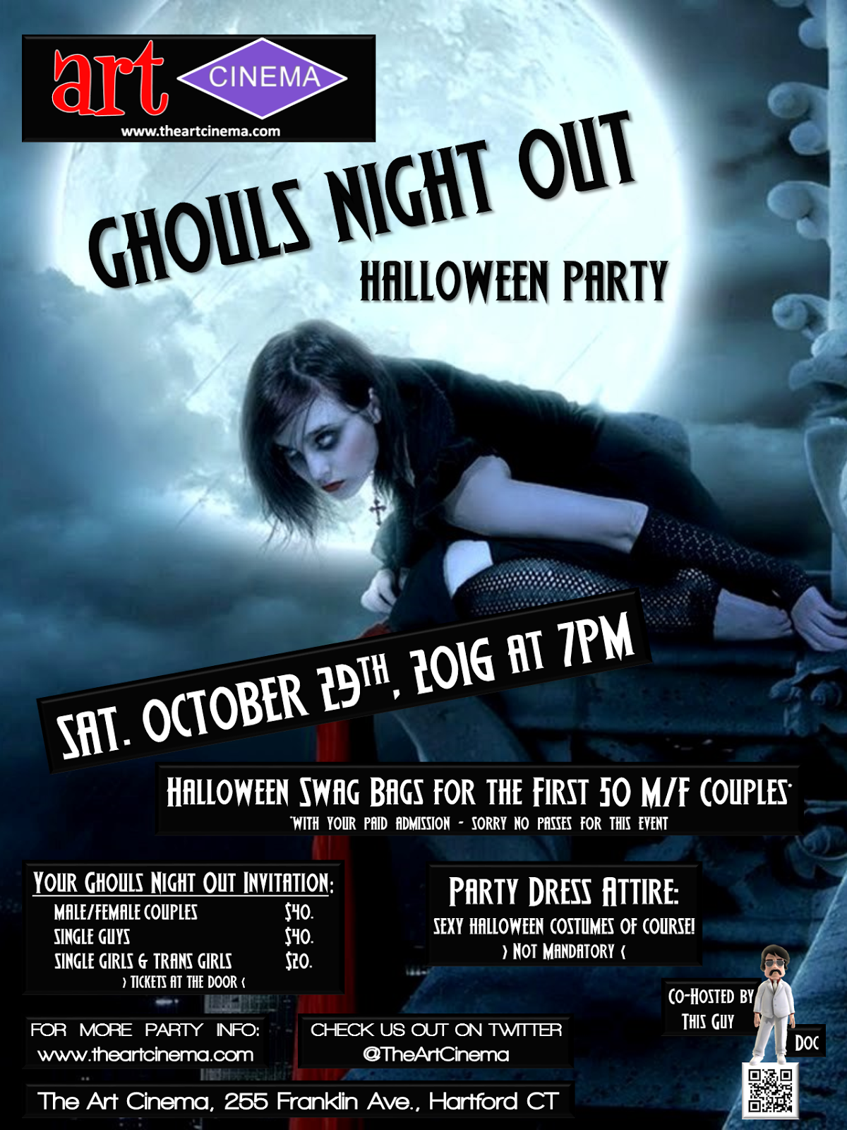 The Next Art Cinema Event! Ghouls Night Out Halloween Party!