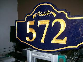 placa de número residencial