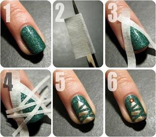 como decorar uñas en navidad