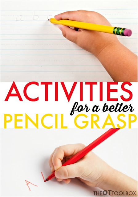 These activities for a better pencil grasp will help kids with handwriting problems in a hands-on and fun way.