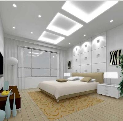 gambar plafon gypsum kamar tidur terbaru