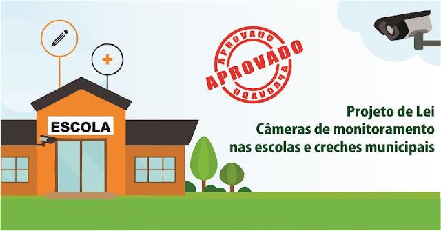 Projeto de Lei que dispões sobre a colocação de câmeras de monitoramento nas escolas municipais é aprovado em Ilha Comprida