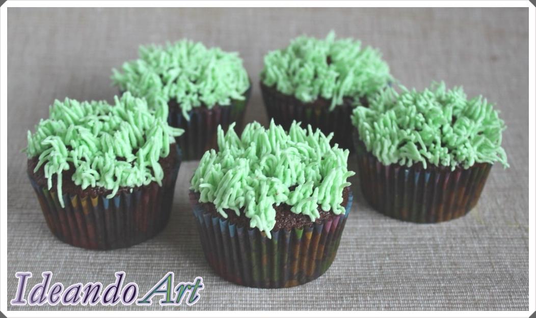 Cupcakes césped