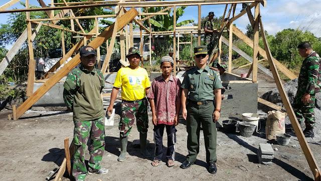 TNI Rehab Lima Rumah Tak Layak Huni di Aceh Tengah
