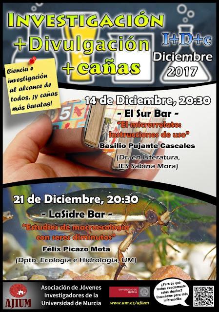 ¡Charlas I+D+c para diciembre!