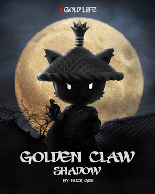 Golden Claw Shadow Edition Gold Life Vinyl Figure by Huck Gee x Mighty Jaxx