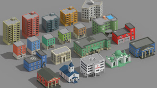SimplePoly Buildings Low Poly Models Assets