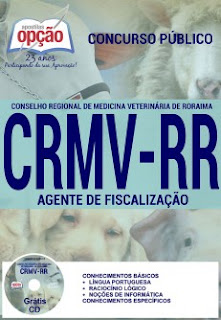 Apostila CRMV RR 2016 (Roraima) Agente de Fiscalização.