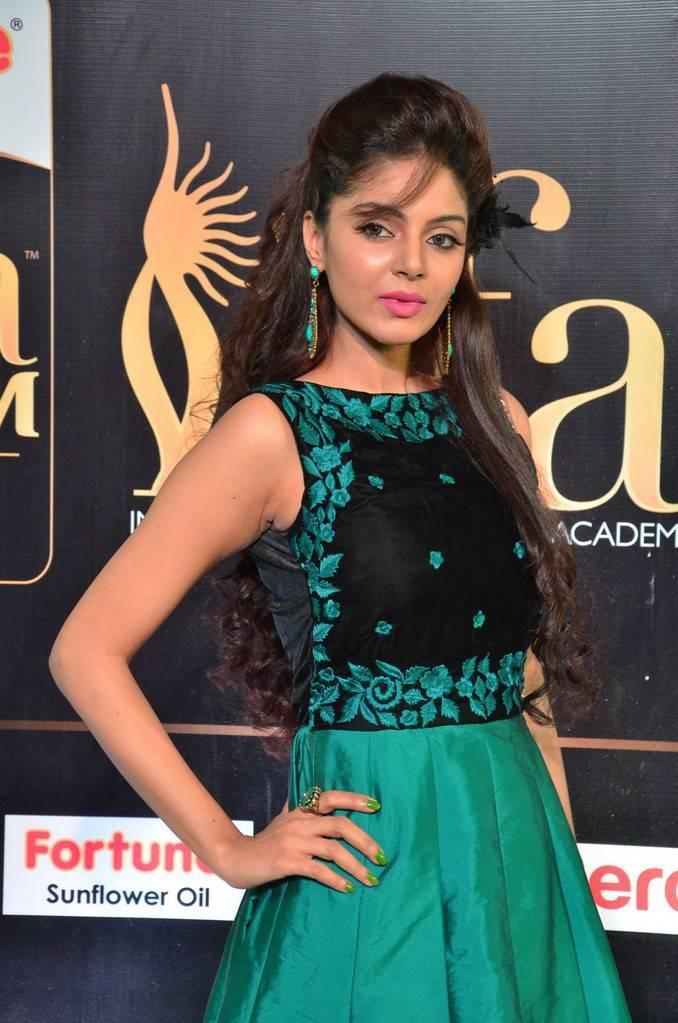 Tollywood Actress Sanam Shetty At IIFA Awards 2017 In Green Dress