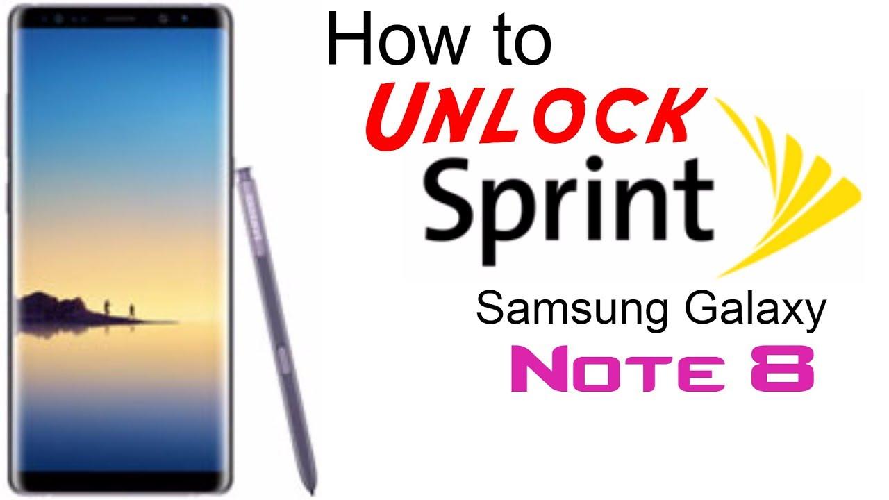 Unlock Samsung Galaxy NOTE 8 SPRINT Sprint network