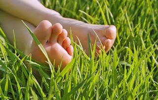 ножки на травке пяточки