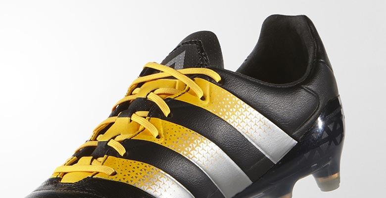 schwarz silber gelbe adidas ace 16 1 lederschuhe ver ffentlicht nur fussball. Black Bedroom Furniture Sets. Home Design Ideas