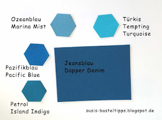 Farbvergleich Stampin' Up Incolor 2016-18, color comparison dapper denim jeansblau