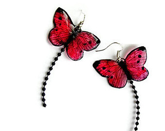 Long tail butterfly quilling earrings designs - quillingpaperdesigns