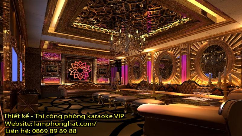 Mẫu phòng karaoke phong cách tân cổ điển 05