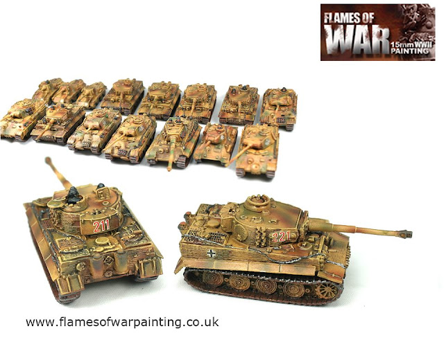 Flames of war painted tanks