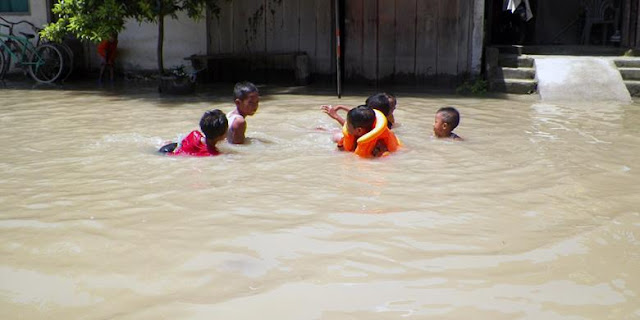 Daerah Hilir Jatim Masih Dilanda Banjir Akibat Luapan Sungai Bengawan Solo
