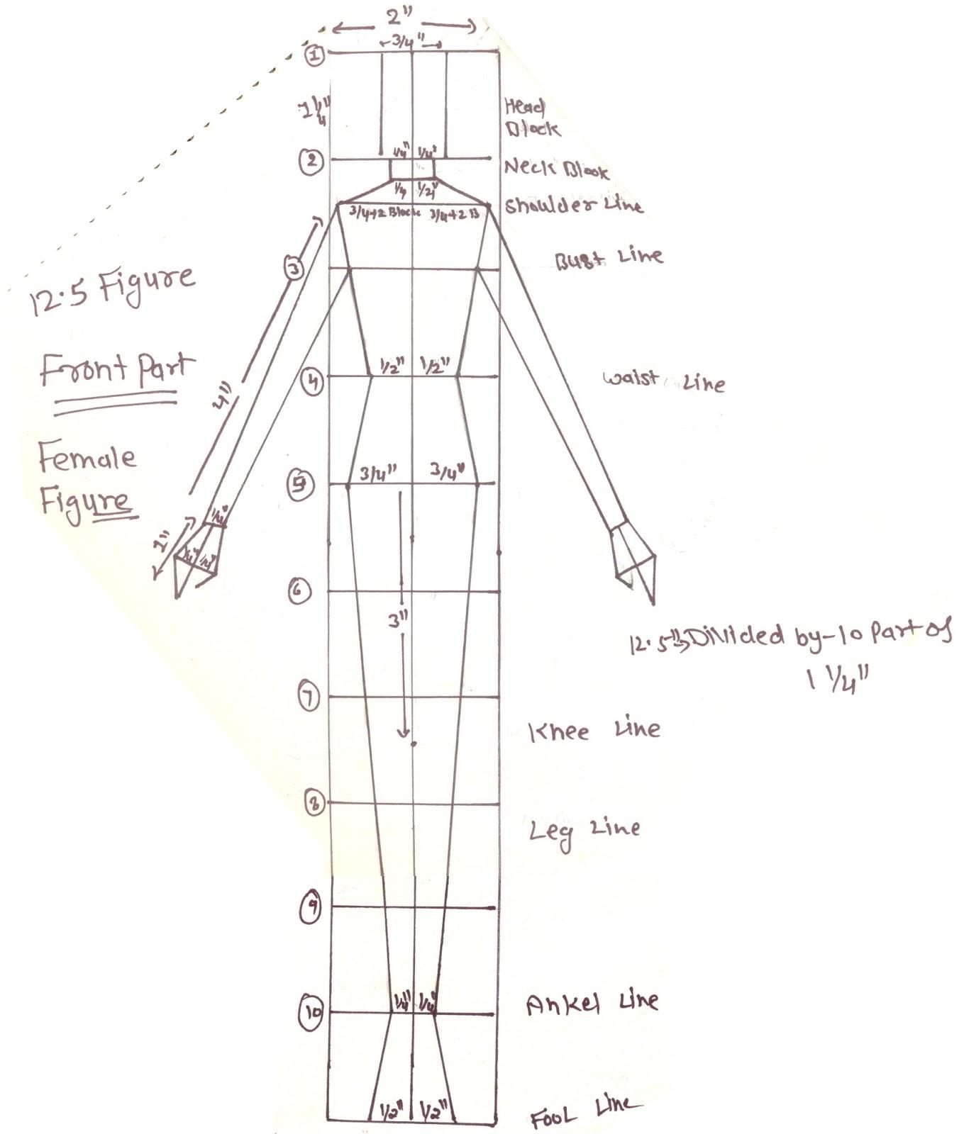 Sketch Diagram Online Printable Flower Fashion Education Design 12 5 Figure