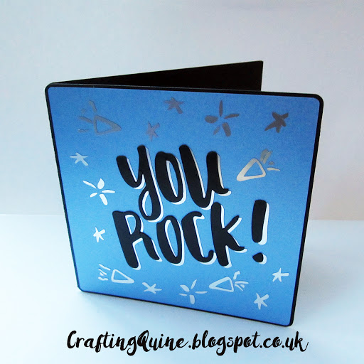 You Rock Card from Silhouette Free Design by Janet Packer (CraftingQuine) #cardmaking #papercrafts #yourock #teencard
