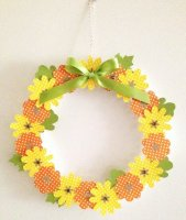 Floral autumn wreath