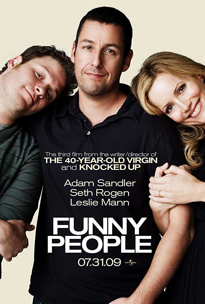 Poster Funny People 2009 Full Movie Dual Audio Hindi Free Download 300Mb