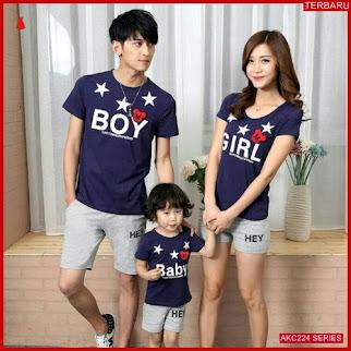 AKC224K52 Kaos Couple Anak 224K52 Keluarga BMGShop
