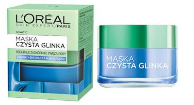 L'Oreal Paris, Skin Expert, Czysta Glinka przeciw niedoskonałościom  + ekstrakt z alg morskich