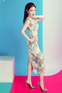 Diễm my 9x quyến rũ gợi cảm với loạt váy ren trong suốt tinh t3ế