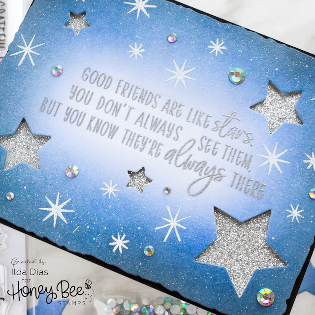 Friends are Like Stars Honey Bee Stamps Brie Mine Blog Hop by ilovedoingallthingscrafty.com