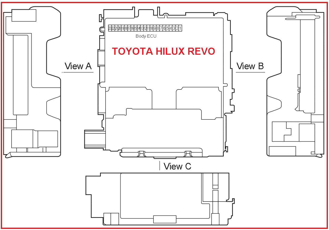Toyota Hilux Wiring Diagram 2016 How To Wire An Outlet Revo Engine Computer Body Ecu