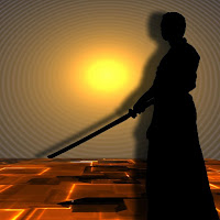 samurai con su espada