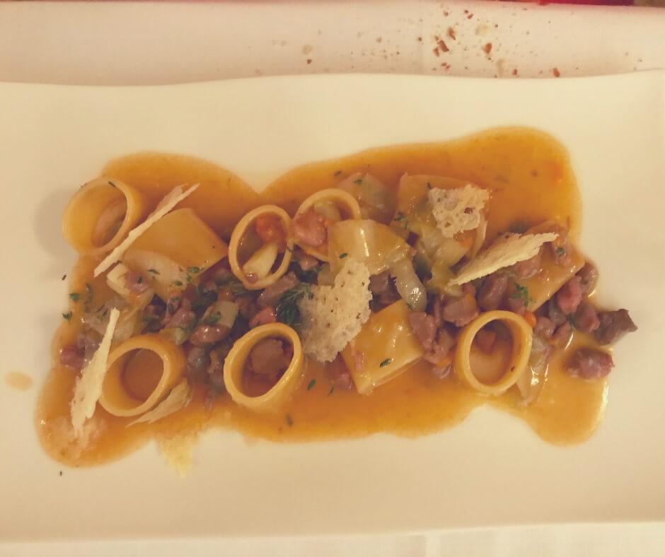 Alla Corone, Venice - pasta loops with duck in a sauce