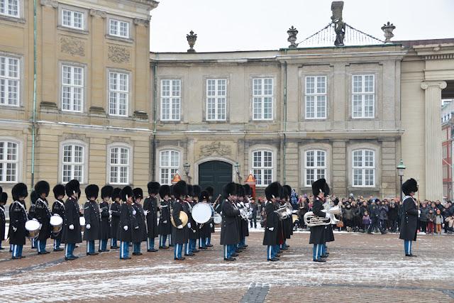 copenhagen, 哥本哈根, 阿摩林堡, Amalienborg, 衛兵換班
