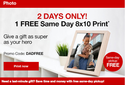 free is my life free 8x10 print at cvs with secret code to
